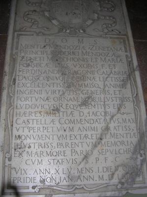 Cromolitografía del sepulcro de los Marqueses del Zenete, 1879. Valencia, Convento de Santo Domingo