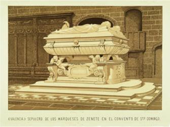 Sepulcro de Mencía de Mendoza, 1554. Valencia, Convento de Santo Domingo