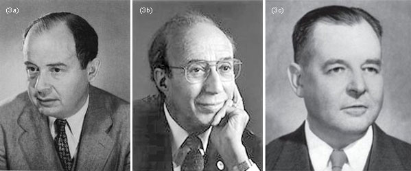 """(3a) John von Neumann (1903-1957) and (3b) Herman Goldstine (1913-2004) were the authors of """"Numerical inverting of matrices of high order"""" in 1947, often considered as the first paper of modern Numerical Analysis. (3c) Harold Hotelling (1895-1973) was an influential statistician who introduced principal component analysis, among other contributions. In 1943, he did an error analysis of GE which led to general pessimism about its practical use in modern computers"""