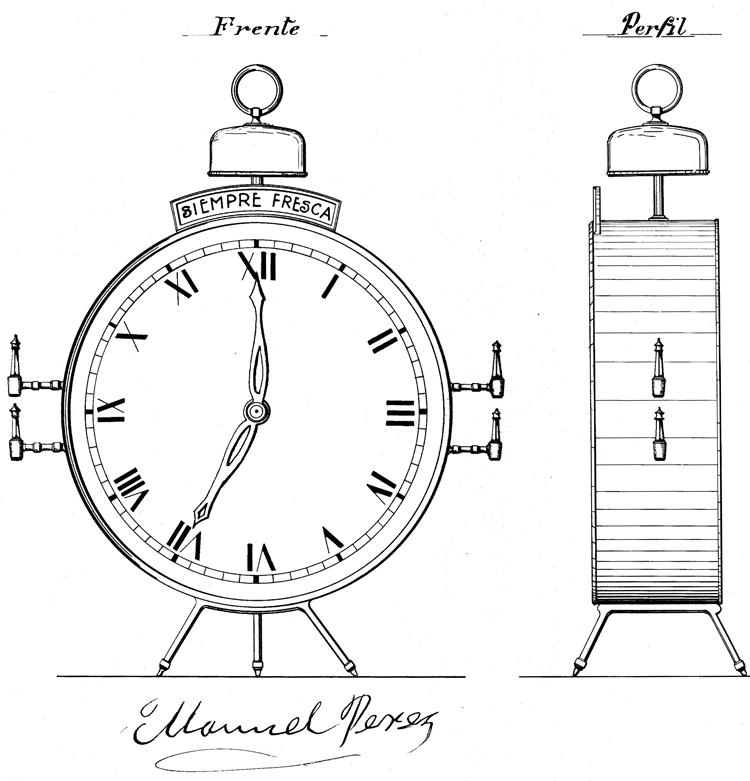 Expendedor de cerveza con forma de reloj. AHOEPM