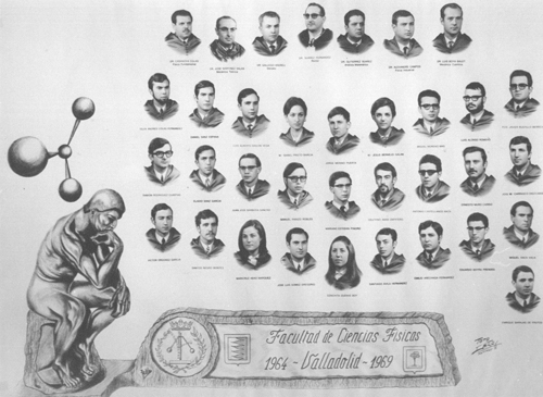 Iconic image ('Orla') of the graduating class of the Faculty of Physics of Valladolid in 1969. May this image serve as a small homage to the professors and a passing reference to my friends, colleagues and classmates of those years.