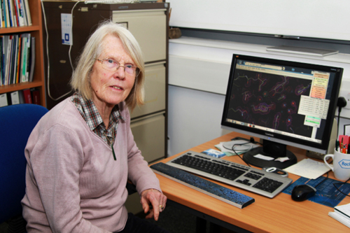 Eleanor Dodson, which began as Dorothy Hodgkin's technician, was the main instigator behind CCP4, the collaborative computing project that currently shares more than 250 software tools with protein crystallographers worldwide. In 2011 she became the only woman that has received the prestigious Ewald Prize, awarded by the IUCr triennially since 1987.