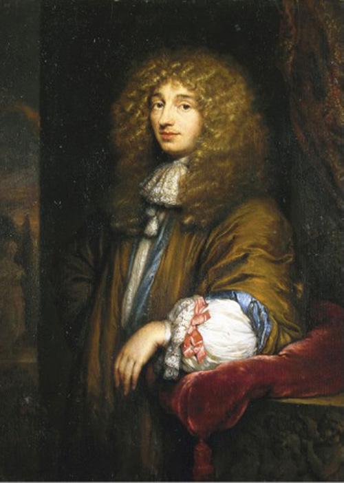 Christiaan Huygens. Retrato de Caspar Netscher