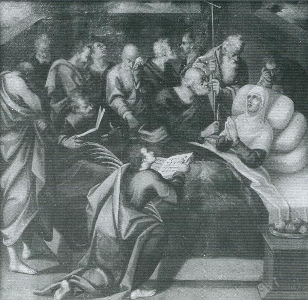 Luis de Velasco. <em>Tránsito de la Virgen</em>. Museo de Santa Cruz, Toledo.