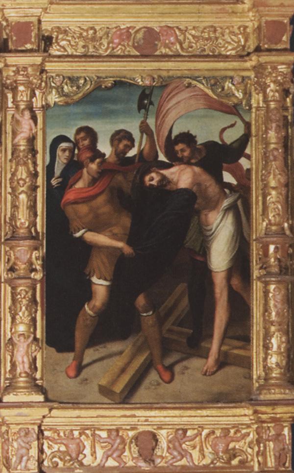 Juan Correa de Vivar<em>. El Expolio</em>.  Iglesia parroquial de Almorox (Toledo).
