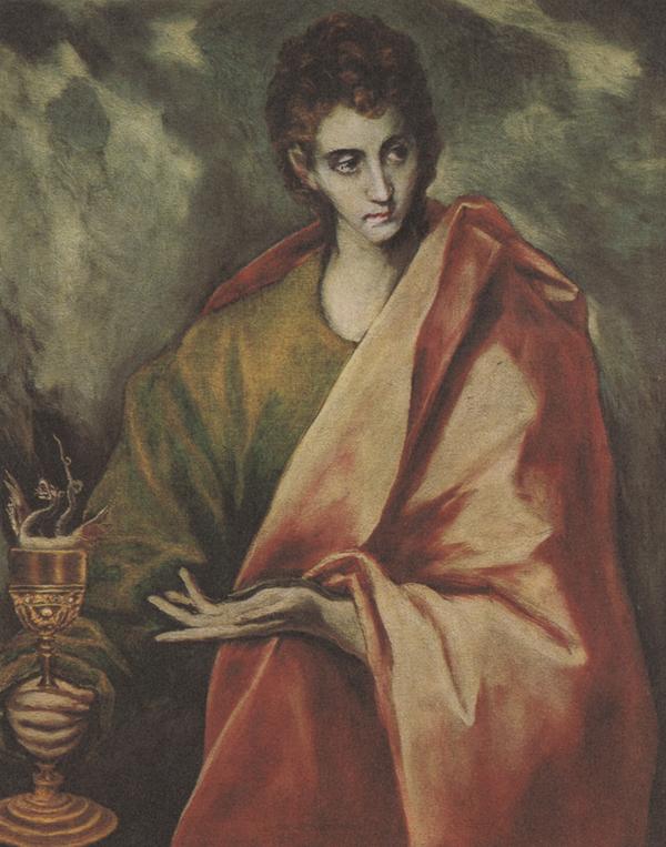 El Greco. <em>San Juan Evangelista</em>. Museo del Prado, Madrid.