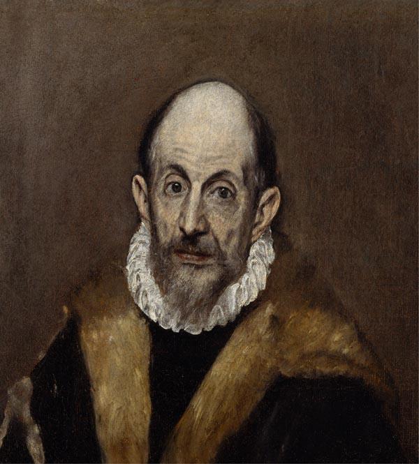 El Greco: <em>Autorretrato?</em> 1595-1600. Nueva York, The Metropolitan Museum of Art.