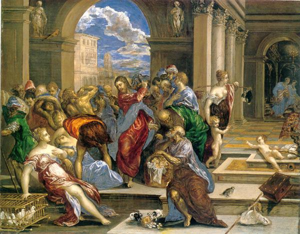 El Greco: <em>Expulsión de los mercaderes del templo</em>, 1572-1573. Minneapolis, Institute of Art.