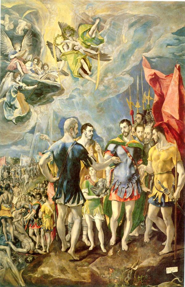 El Greco: <em>Martirio de San Mauricio</em>, 1580-1582. Real Monasterio de San Lorenzo de El Escorial.