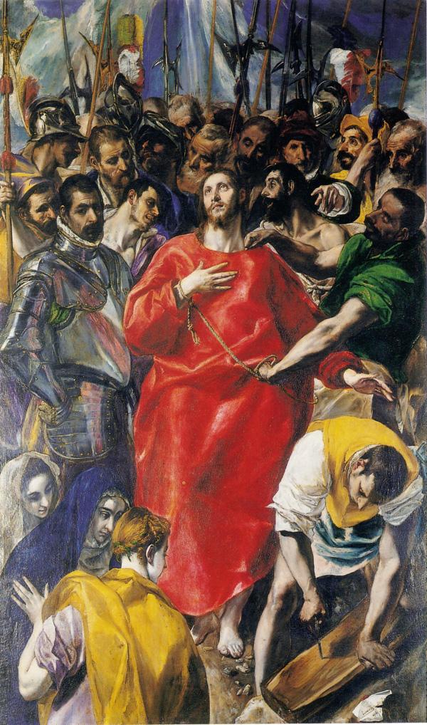 El Greco: <em>El Expolio de las vestiduras</em>, 1577-1579. Toledo, Sacristía de la Catedral.