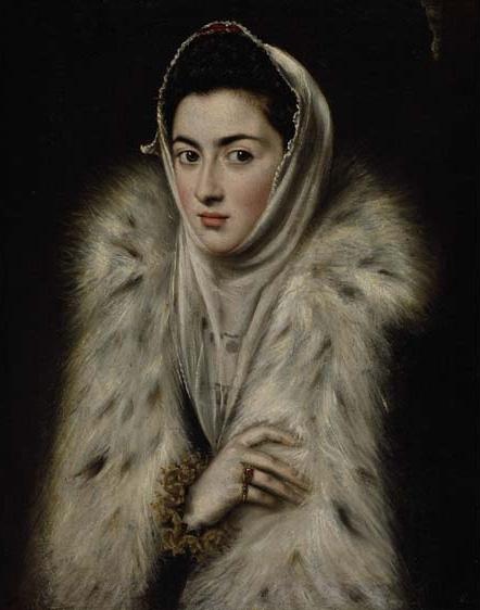 El Greco?: <em>La dama del armiño, Jerónima de las Cuevas?</em> 1577-1580. Glasgow, Art Gallery.