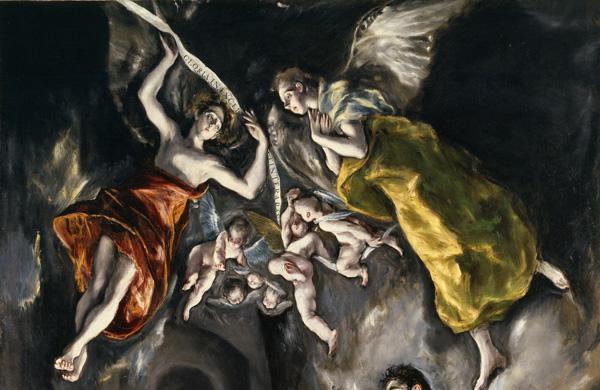 El Greco: <em>Adoración de los pastores</em> [detalle], 1612-1614. Madrid, Museo Nacional del Prado.
