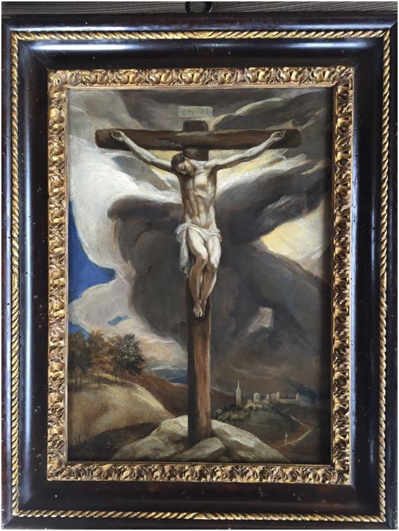 Cristo crucificado, ca. 1574. Óleo sobre cobre, 38,8 x 26,2 cm. Colección privada