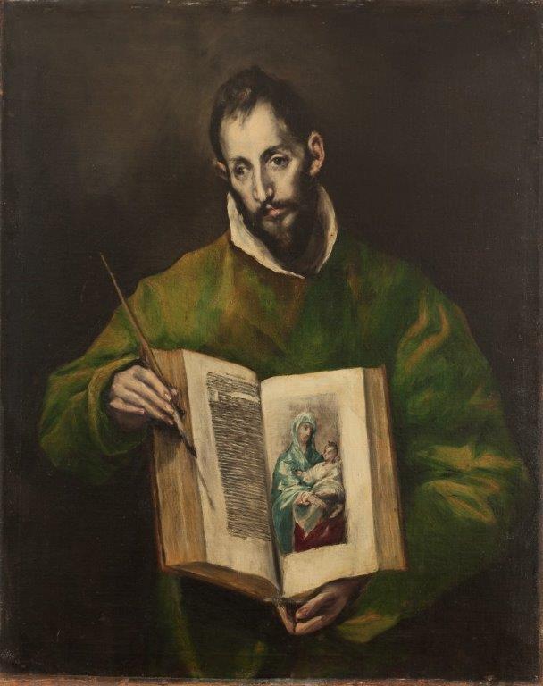 Detalle de San Lucas, 1608/14. Óleo sobre lienzo, Toledo, sacristía de la Catedral