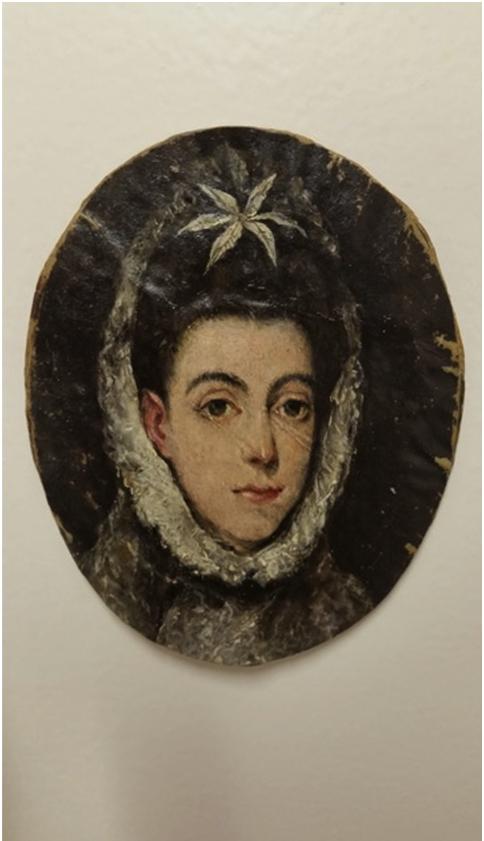 Dama con una flor en el pelo, ca. 1603/5. Óleo sobre vitela, 9 x 7,5 cm. Colección privada inglesa