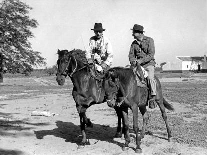 Huxley y Nicholson en Doñana en 1966