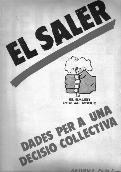 Cubierta del libro publicado por Móstoles y otros activistas ecologistas de Valencia, en la que figura AEORMA Equip 3 como autor