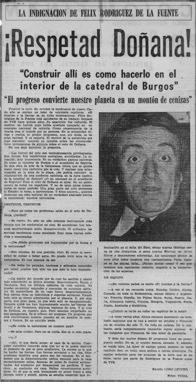 Figura 2. Entrevista de Ramón Lobo Leyder a Félix Rodríguez de la Fuente (izquierda)