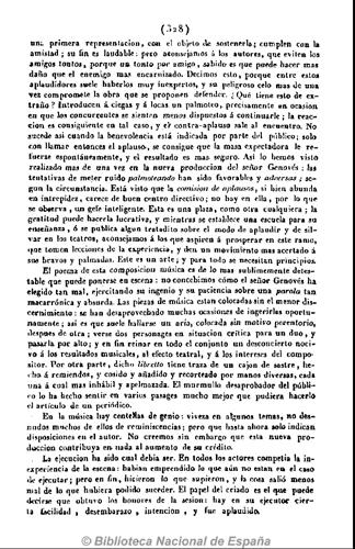 Cartas Españolas (jueves 21 de junio de 1832). Teatros. El rapto. Ópera española en dos actos, p. 328