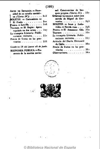 Índice donde se anuncia en la pág 327 El Rapto