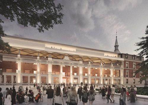 Recreación de la recuperación del Salón de Reinos para reforma del Museo del Prado