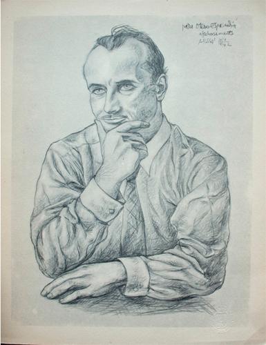 Otero Espasadín dibujado por Attilio Rossi