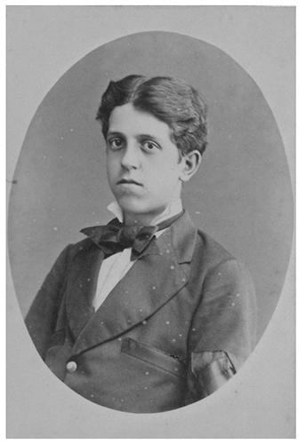 Antonio Viada a la edad de diez años en 1872