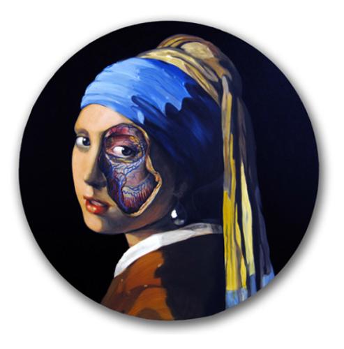 Ángeles Agrela, La joven de la perla (Vermeer) (cortesía de Galería Magda Bellotti).