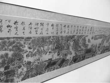 Réplica de El festival Qingming junto al río (Qīngmíng Shànghé Tú), siglo XII.